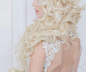 bride, hairstyle, and elegant image