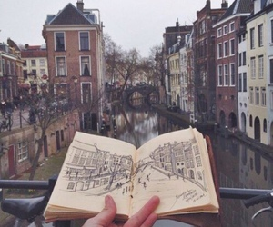 art, city, and book image