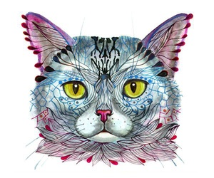 animals, cats, and illustrations image