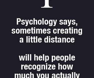 distance, psychology, and quote image