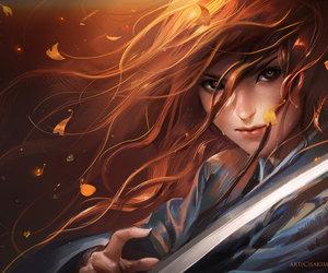 art, fantasy, and sword image