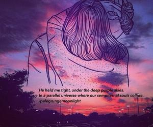 grunge, purple sky, and souls image