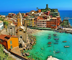 boats, cliff, and italy image