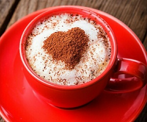 red, coffee, and heart image