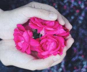 day, flowers, and hands image