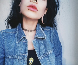 grunge, lips, and piercing image
