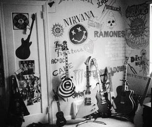nirvana, guitar, and rock image