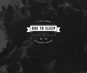 stay awake, Lyrics, and top image
