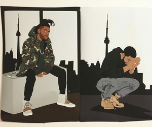Drake, the weeknd, and art image