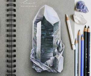 art, crystal, and drawing image
