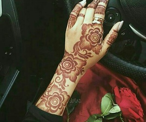 beautiful, hands, and henna design image