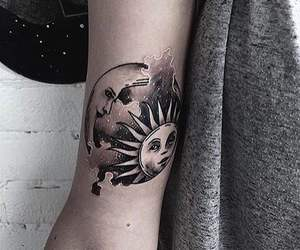 tattoo, moon, and black image