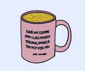 coffee, quotes, and pink image