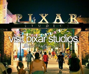 pixar, disney, and disneyland image