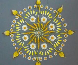 flower, mandala, and danmala image