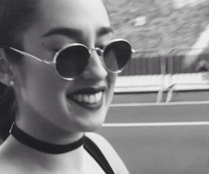 black and white, sunglasses, and happy baby image