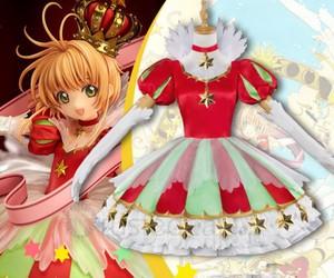 sakura kinomoto, anime dress, and cardcaptor sakura image