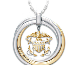 womens military jewelry, us navy jewelry, and us navy gifts image