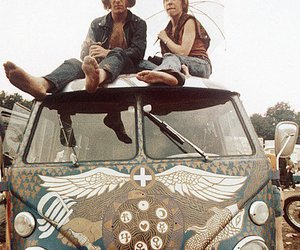 hippie, woodstock, and hippies image