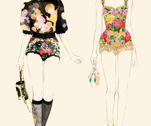 fashion, drawing, and illustration image
