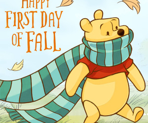 autumn, leaves, and pooh image