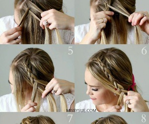 braid, french, and diy image