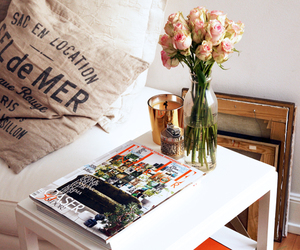 candle, coffee table, and design image