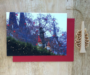 etsy, happy holidays, and winter card gnoming image