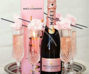 pink, champagne, and drink image