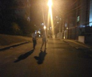 Darkness, street, and light image