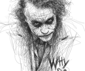 joker, batman, and drawing image