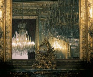art, chandelier, and interior image
