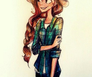 art, gravity falls, and wendy image