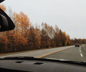 adventure, autumn, and car image
