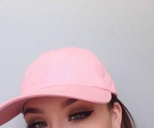 girl, pink, and makeup image
