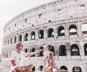 couple, travel, and rome image
