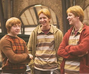 harry potter, ron weasley, and fred weasley image
