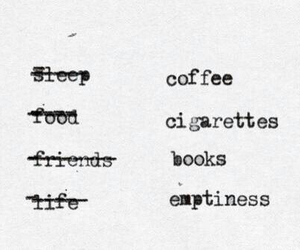 book, cigarette, and coffee image
