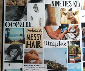 Collage, hair, and text image