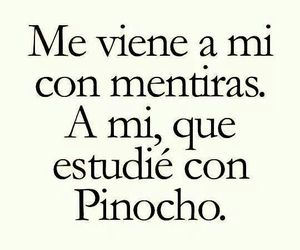 lies, pinocho, and frases image