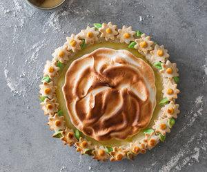 baking, dessert, and meringue image