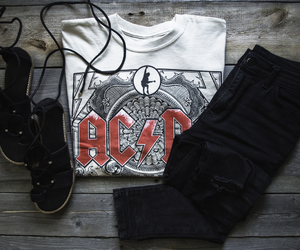 ac dc, clothes, and gladiator image