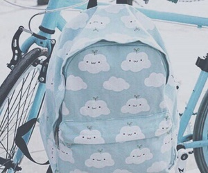 blue, bag, and backpack image