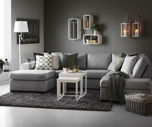 grey, home, and living room image