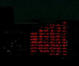 dark, night, and red image