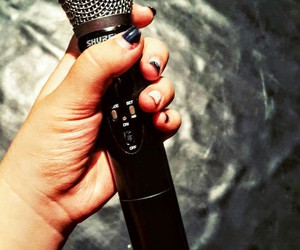 microphone, sing, and shure image