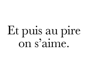 love, french, and quotes image