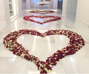 love, rose, and flowers image