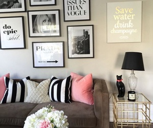 decoration, home, and living room image