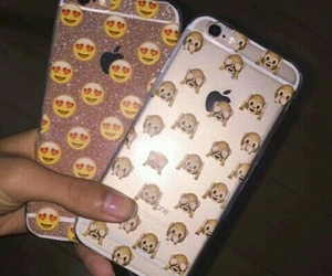 case, emoji, and iphone image